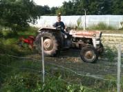 Buttage des pdt avec le tracteur