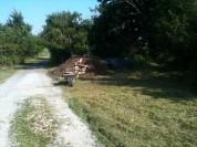 Girobroyage devant le compost