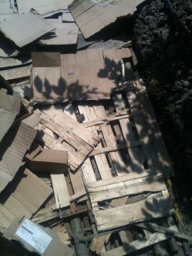 Butte - apport cagettes et cartons