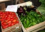 Tomates roma, aubergines, poivrons
