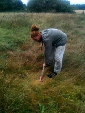 Etude du sol - David creusant un trou