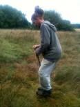 Etude du sol - David chevauchant le bêche