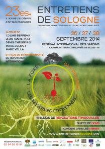Affiche Entretiens de Sologne 2014