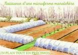 microferme maraîchère Bourdaisière plan - design permaculturel